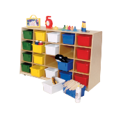 Wood Designs™ Tip-Me-Not™ 20-Tray Storage Units