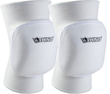 Volleyball Bubble Knee Pads - White