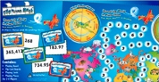 'ROUND THE WORLD PLACE VALUE BOARD GAME