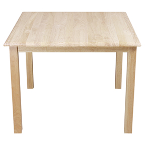 "24"" Square Hardwood Tables, w/18"" Legs"