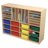 Wood Designs™ Multi-Sectioned Handy Storage Centers