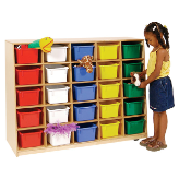 Wood Designs™ Tip-Me-Not™ 25-Tray Storage Units