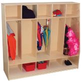 Wood Designs™ Tip-Me-Not™ 5-Section Seat Lockers