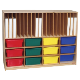 Wood Designs™ Tip-Me-Not™ Portfolio Storage Centers