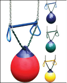 Gorilla Playset Accessories - BuoyBall - Trapeze Bar w/Rings