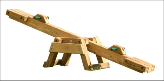 Gorilla Playset Accessory - Wooden See-Saw