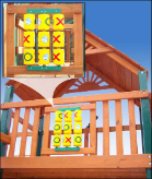 Gorilla Playset Accessories - Tic-Tac-Toe Spinner