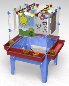 Toddler 4 Station Space Saver Easel