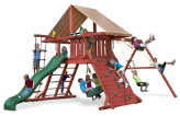 Gorilla Playsets Sun Climber I with Sunbrella Roof - Brannon Redwood