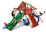 Gorilla Playsets Sun Climber Extreme with Sunbrella Canopy - Brannon Redwood