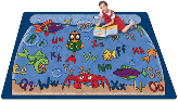 "Alphabet Aquarium Carpet  ( 4' 5"" X 5' 10"" )"