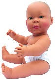 Large Vinyl (Anatomically Correct) Asian Girl Baby Doll
