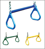 "Gorilla Playset Accessory - 21"" Trapeze Bar w/Rings"
