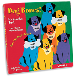 Phonics Game - Dog Bones!  -- Long Vowel Rhyming