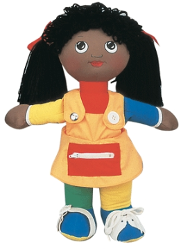 Learn To Dress Doll - (Black Girl)