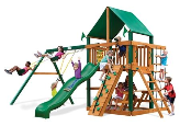 Gorilla Playset Chateau with Vinyl Canopy - Green