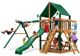 Gorilla Playset Chateau with Sunbrella Roof - Green