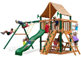 Gorilla Playset Chateau with Sunbrella Roof - Weston Ginger