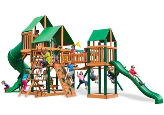 Gorilla Playsets Treasure Trove I Deluxe with Canvas Roof - Green
