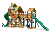 Gorilla Treasure Trove Playset with Standard Wood Roof