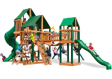 Gorilla Playsets Treasure Trove I Supreme Sunbrella - Green