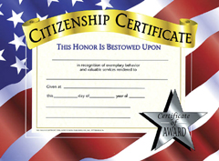 Certificates Citizenship 30/Pk