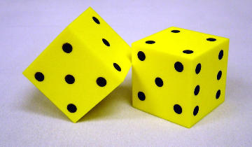 FOAM DICE - DOT ( SET OF 2 )