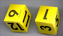 FOAM DICE - NUMERAL ( SET OF 2 )