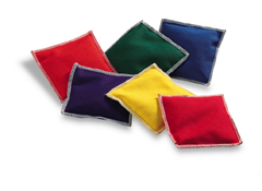 Bean Bags - Rainbow Colors ( Set of 6 )