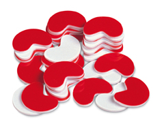 BEAN COUNTERS ( 200-PK ) PLASTIC RED & WHITE