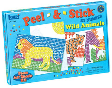 Peel & Stick By Number Wild Animals