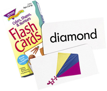 FLASH CARDS - COLORS, SHAPES, AND NUMBERS ( 96/BOX )