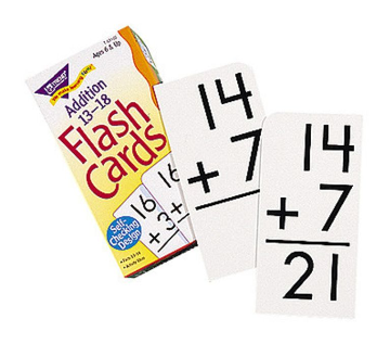 FLASH CARDS - ADDITION 13-18