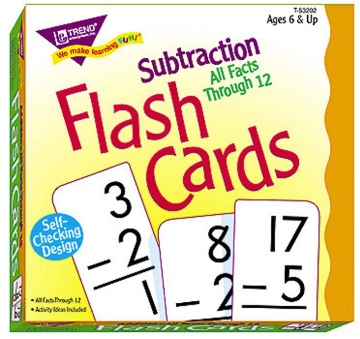ALL FACTS FLASH CARDS - SUBTRACTION 0-12