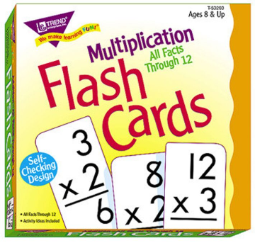 ALL FACTS FLASH CARDS - MULTIPLICATION 0-12