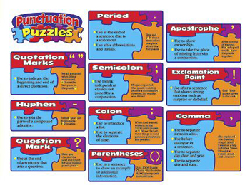 Punctuation Puzzles Bulletin Board Set