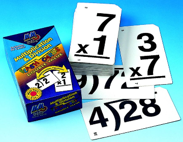 DOUBLE VALUE FLASH CARDS - MULTIPLICATION & DIVISION