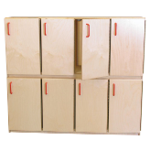 Wood Designs™ Stacking Lockers with Doors