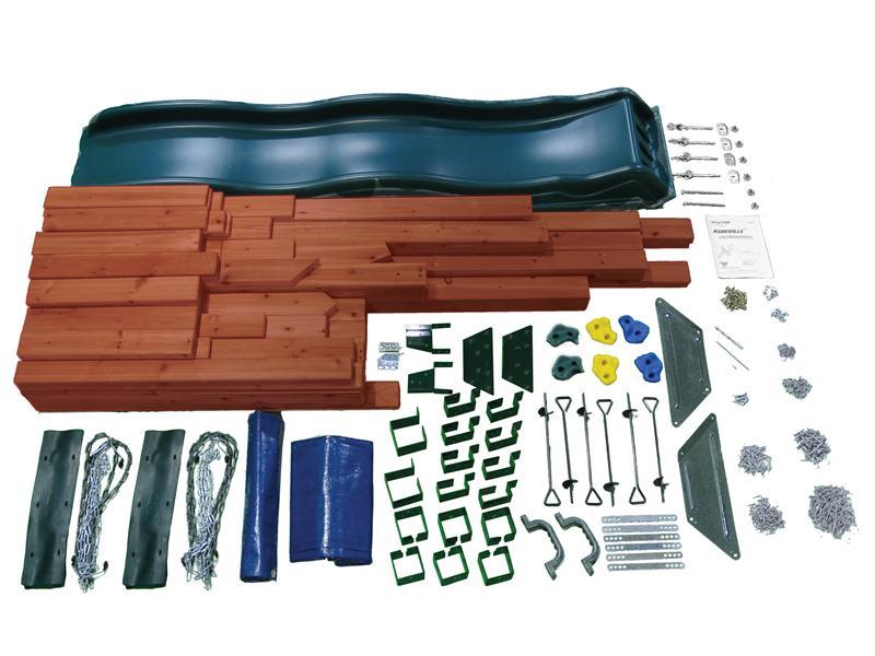 swingnslide asheville swing set kit
