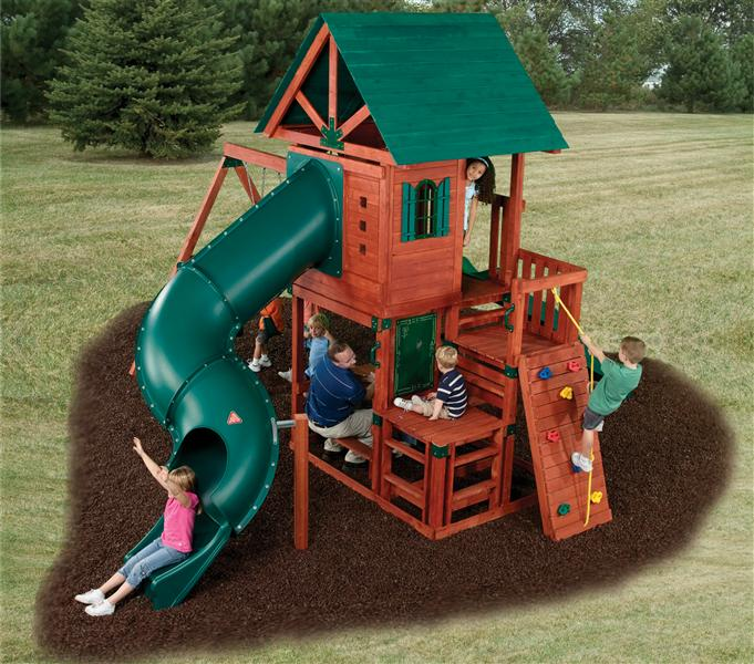 ... Southampton Swing Set, Wood Complete, Ready-to-Build Swing Sets Kits