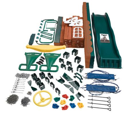 swingnslide winchester wooden swing set kit
