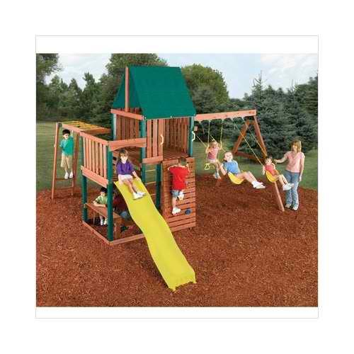 swingnslide chesapeake swing set wood complete swing sets kits