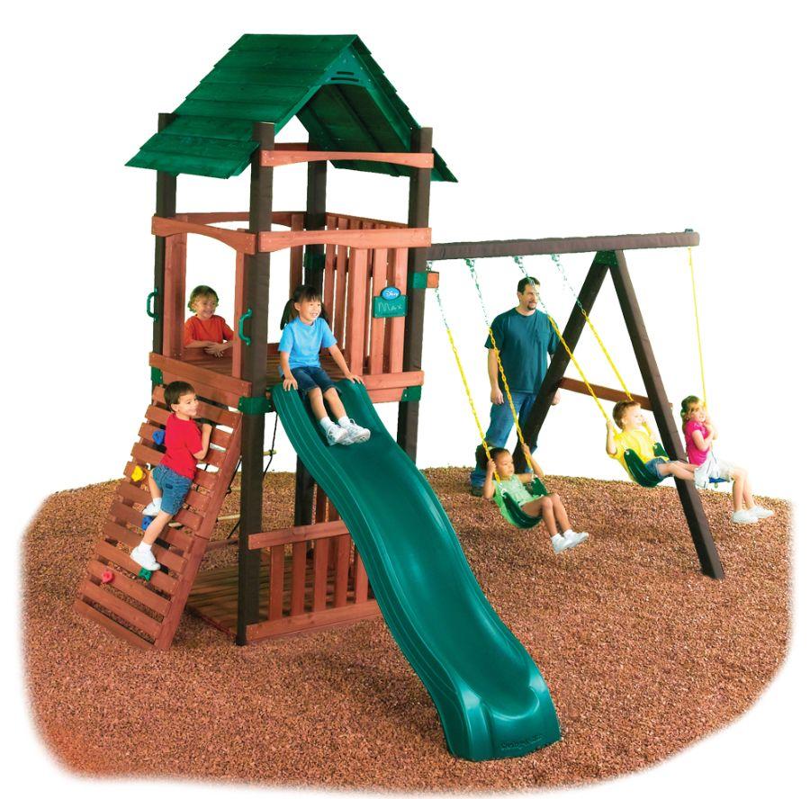 Cimarron Swing Set Swing N Slide Wooden Swing Set Kit