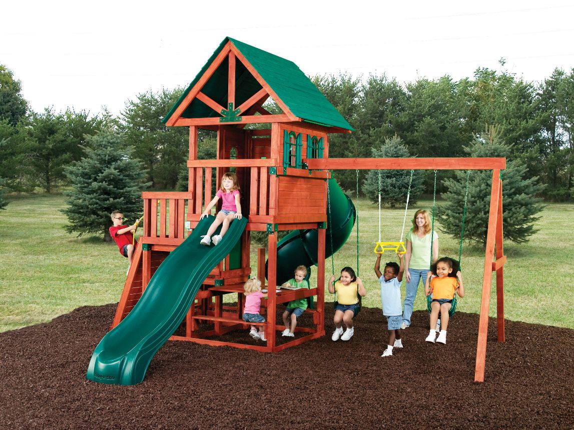 Southampton swing set southampton wood play set swing n for Play plan